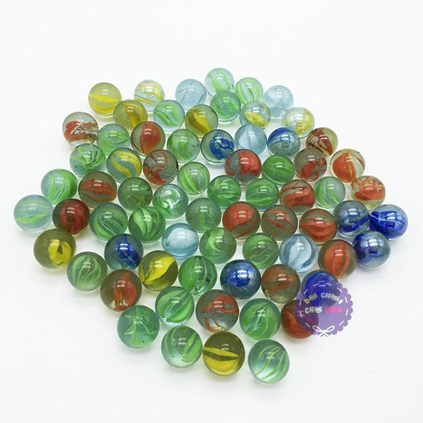 Bộ 70 viên bi ve 8 khía đủ màu size 1.6 cm bằng thủy tinh