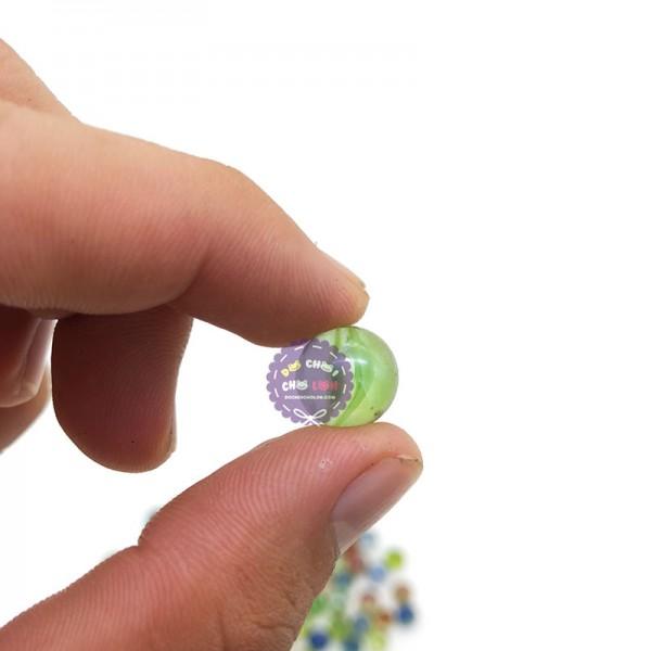 Bộ 100 viên bi ve NHÍ đủ màu size 1 cm bằng thủy tinh