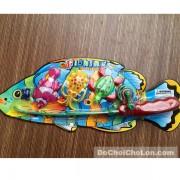 Vỉ đồ chơi câu cá nam châm dưới nước 1 cần 3 cá