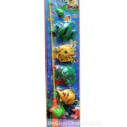 Vỉ đồ chơi câu cá nam châm dưới nước 1 cần 4 cá