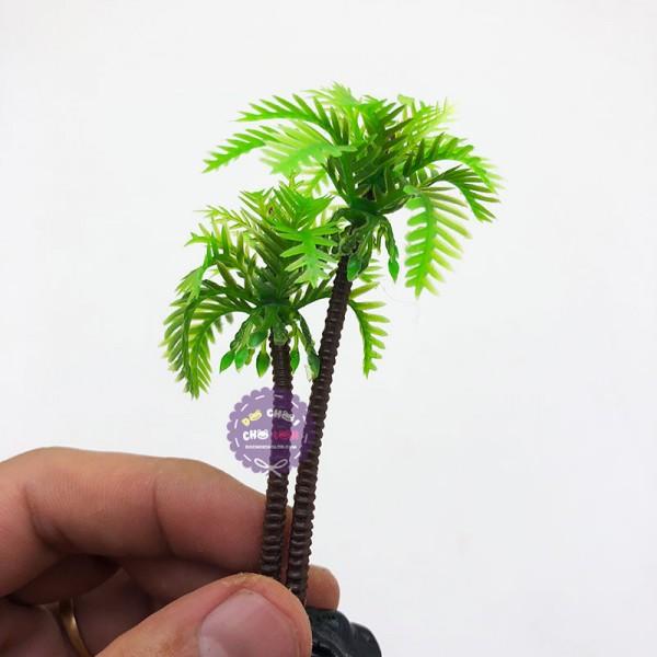 Mô hình cây dừa nhựa trang trí hồ cá cảnh size 10CM