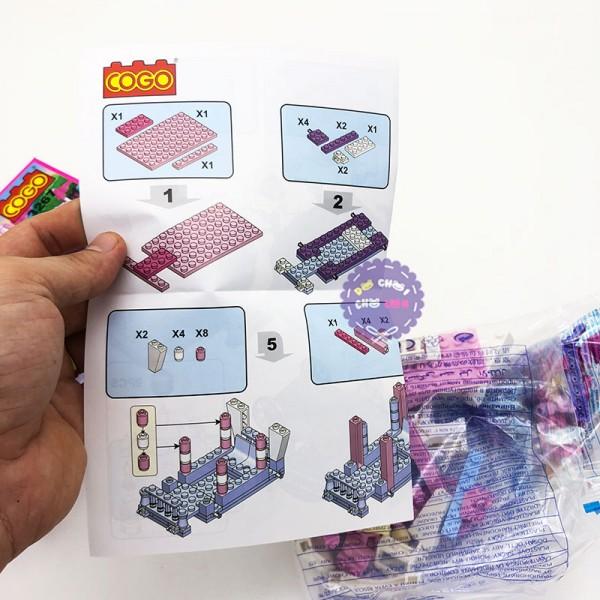 Hộp đồ chơi lắp ráp xe ngựa công chúa 98 miếng CG3267