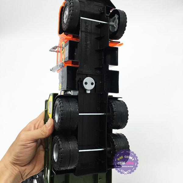 Đồ chơi xe cần cẩu cứu hộ chứa xếp hình Cholo Blóc