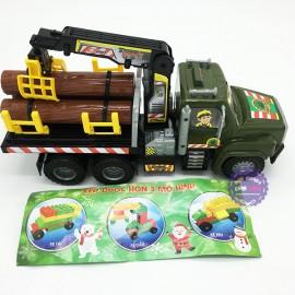 Đồ chơi xe tải chở gỗ chứa xếp hình Cholo Blóc