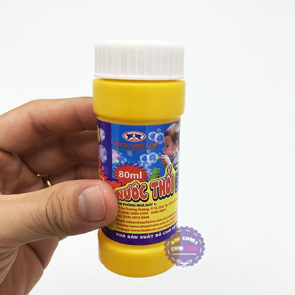 Đồ chơi bình nước thổi bong bóng xà phòng Nhựa Chợ Lớn