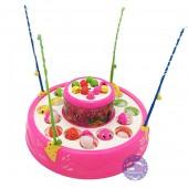 Hộp đồ chơi câu cá 2 tầng dùng pin có nhạc đèn