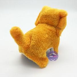 Đồ chơi chú chó vàng biết đi và sủa dùng pin có đèn