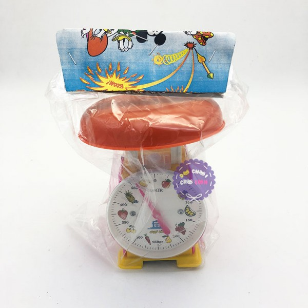 Đồ chơi cân nhựa đồng hồ trái cây 500 gram cho bé