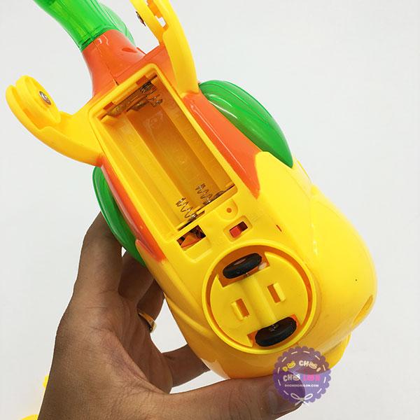 Lồng đèn trung thu cá la hán chạy pin có đèn nhạc