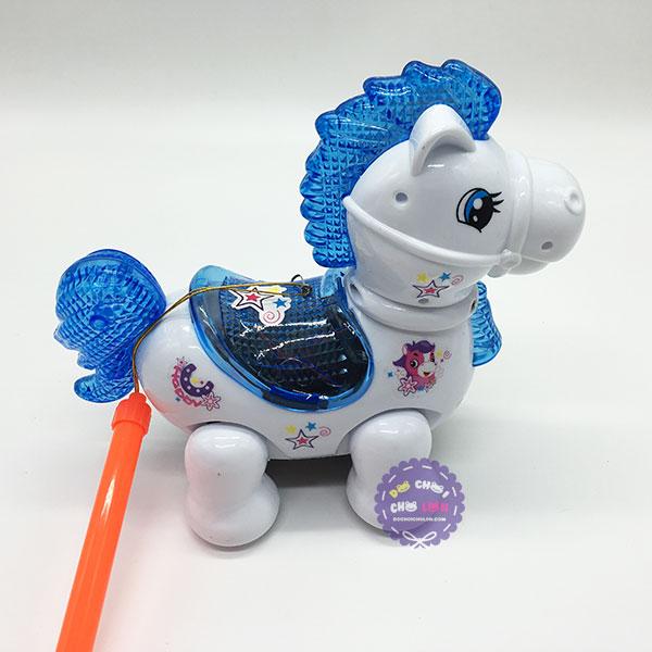 Lồng đèn trung thu chú ngựa chạy pin có đèn nhạc