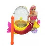 Lồng đèn trung thu nàng tiên cá phun nước chạy pin có đèn nhạc