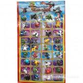 Vỉ đồ chơi Pokemon bằng nhựa 36 con (3cm)