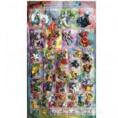 Vỉ đồ chơi Pokemon lớn bằng nhựa 47 con