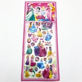 Hình dán sticker nổi 3D hình công chúa Disney