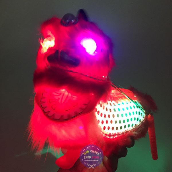 Lồng đèn trung thu múa kỳ lân chạy pin có đèn nhạc