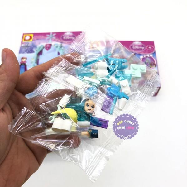 Bộ 4 hộp đồ chơi lắp ráp công chúa Frozen 4 in 1 DLP517
