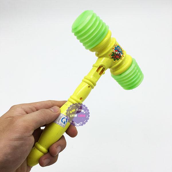 Đồ chơi búa đập 2 đầu nhỏ bằng nhựa túi lưới