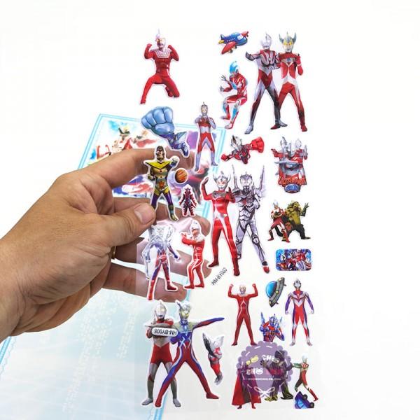 Hình dán sticker nổi 3D hình siêu nhân Điện Quang