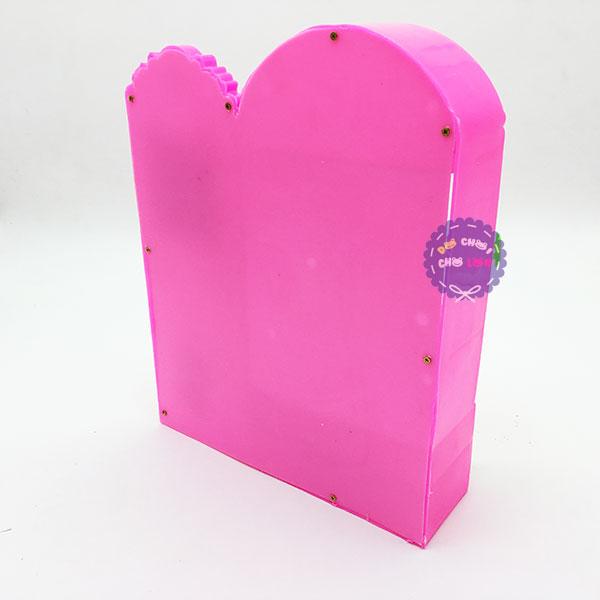 Đồ chơi tủ quần áo hồng và bàn trang điểm cho búp bê