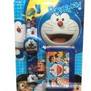 Vỉ đồ chơi đồng hồ điện tử & bóp đựng tiền Doraemon