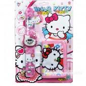 Vỉ đồ chơi đồng hồ điện tử & bóp đựng tiền Hello Kitty
