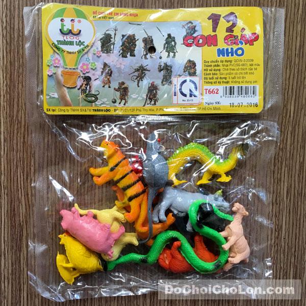 Bộ đồ chơi thú 12 con giáp nhỏ