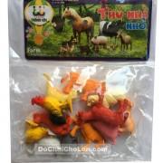 Bộ đồ chơi các loại thú nuôi trong nhà nhỏ