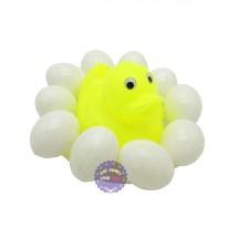 Bộ đồ chơi dĩa vịt 10 quả trứng bằng nhựa túi lưới