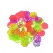 Bộ đồ chơi đồng xu nhỏ bằng nhựa (100 gram - khoảng 100 cái)