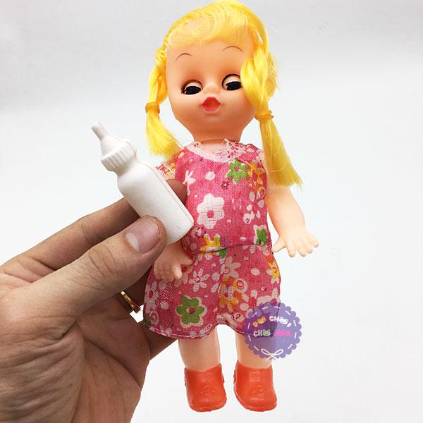 Đồ chơi búp bê uống sữa biết nhắm mở mắt size 18 cm