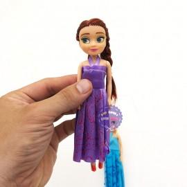 Bộ đồ chơi 2 búp bê Frozen: Elsa và Anna mini E999-13