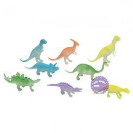 Bộ đồ chơi 8 chú khủng long dạ quang bằng nhựa Dino World
