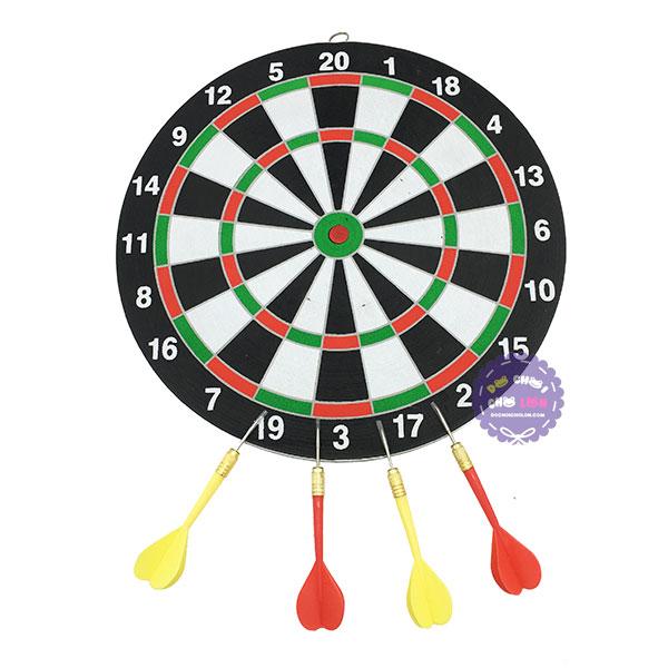 Đồ chơi bảng phi tiêu chân kim 2 mặt 4 phi tiêu Dart Board Game