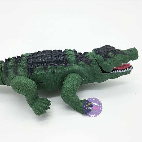 Hộp đồ chơi cá sấu điều khiển từ xa dùng pin có đèn nhạc