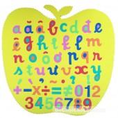 Đồ chơi bảng chữ số tập đánh vần và ráp chữ cái hình trái táo