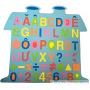 Đồ chơi bảng chữ số tập đánh vần và ráp chữ cái hình ngôi nhà