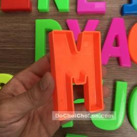 Vỉ đồ chơi bộ chữ cái lớn bằng nhựa