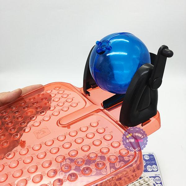 Hộp đồ chơi lồng quay lô tô trong suốt 90 số Bingo