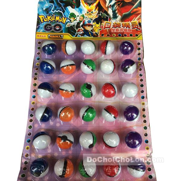 Vỉ đồ chơi bóc trứng Pokemon (30 quả)