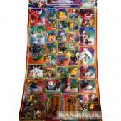 Vỉ đồ chơi Pokemon lớn bằng nhựa 42 con & 2 bộ bài