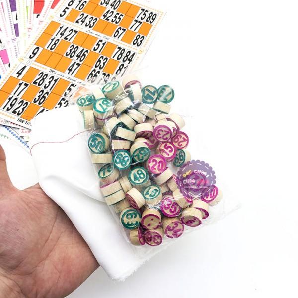 Hộp trò chơi kêu Lô Tô 90 số bằng giấy và gỗ NHƯ Ý