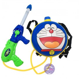 Bộ đồ chơi súng thụt nước & ba lô hình Doraemon
