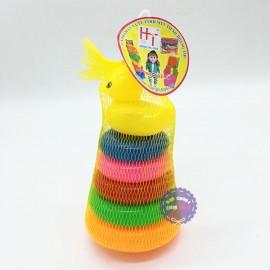 Bộ đồ chơi ném vòng vịt nhí bằng nhựa túi lưới HT710