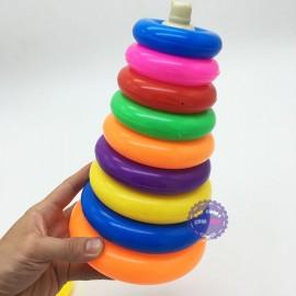 Bộ đồ chơi ném vòng vịt trung bằng nhựa túi lưới