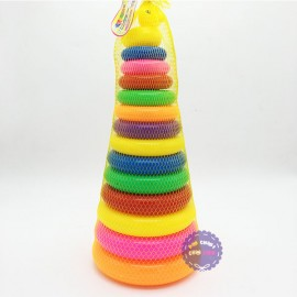 Bộ đồ chơi ném vòng vịt đại bằng nhựa túi lưới