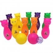 Bộ đồ chơi bowling hình mèo 10 trái túi lưới