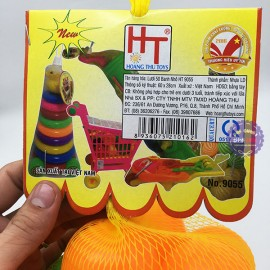 Đồ chơi banh nhựa nhỏ nhiều màu 50 trái túi lưới (5cm)