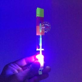 Đồ chơi ná bắn chong chóng xoay có đèn led bắn bằng thun