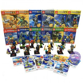 Bộ 12 hộp đồ chơi lắp ráp NinjaMQ bằng nhựa JT889-1