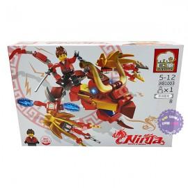 Hộp đồ chơi lắp ráp Ninja rồng đỏ Elephant JX81003